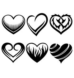 hearts tattoos vector image vector image