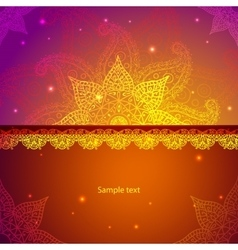 Indian Vintage Ornament for vector image vector image