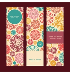 abstract decorative circles vertical banners set vector image