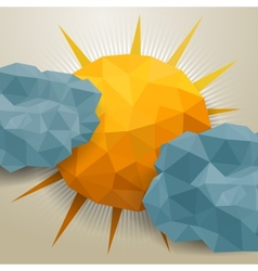 Abstract triangle clouds and sun vector