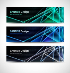 Binary code banners vector image vector image