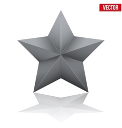 Black five-pointed star vector image vector image