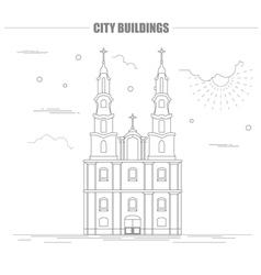 City buildings graphic template Belarus vector image vector image