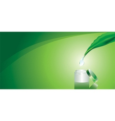 Green background with cream vector image vector image