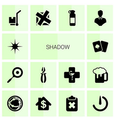14 shadow icons vector