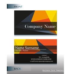 A company calling card vector image