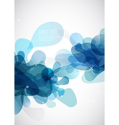 Abstract blue bubbles with place for your own text vector
