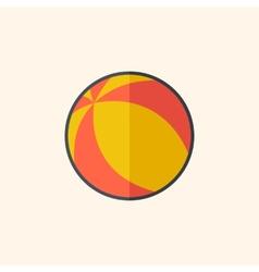 Ball flat icon vector