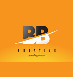 Bb b b letter modern logo design with yellow vector