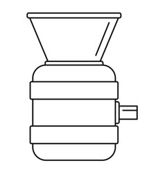 beverage tool icon outline style vector image