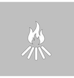 Bonfire computer symbol vector image