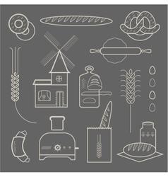 Bread icons vector image vector image