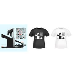 Brooklyn new york stamp and t shirt mockup vector