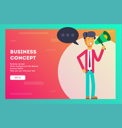 businessman speaking through megaphone vector image