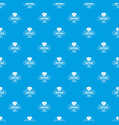 captain pattern seamless blue vector image