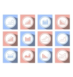 charts and graphs icons vector image