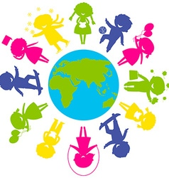 ChildrenWorld vector image