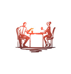 colleagues employees friends concept hand drawn vector image