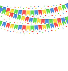 Color hanging flags vector