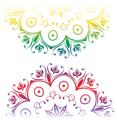colorful floral ornament vector image