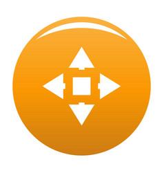 Cursor displacement icon orange vector