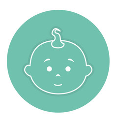 Cute little baby with pompadour vector