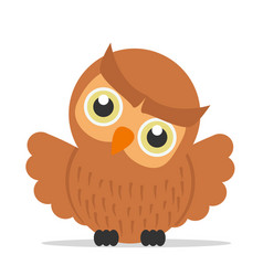 cute owl cartoon bird vector image