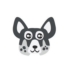 Cute spotted dog head funny cartoon animal vector