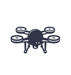 Drone icon on white vector