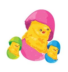 Easter cartoon chicken vector