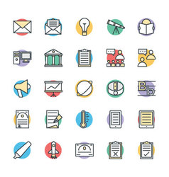 Education Cool Icons 6 vector image