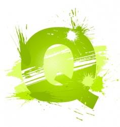 font letter q vector image