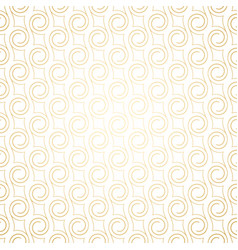 golden art deco seamless pattern with swirls vector image