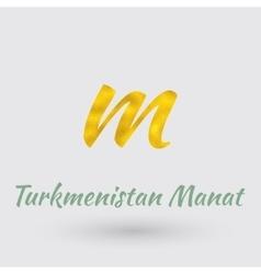 Golden Symbol of Turkmenistan Manat vector image