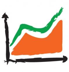 grunge graph vector image