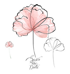 hand drawn fantastic watercolor flower for wedding vector image