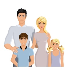 Happy family realistic vector image