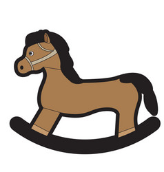 isolated wooden horse toy vector image