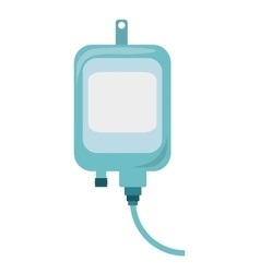 Iv bag medical isolated icon vector