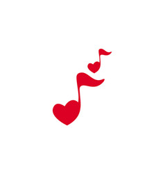 love note music song logo icon vector image