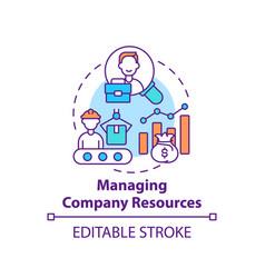 managing company resources concept icon vector image