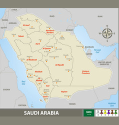 Map saudi arabia vector