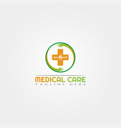 Medical care icon template creative logo design vector