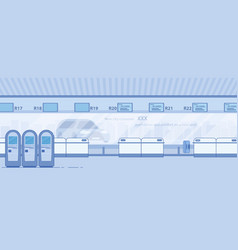 modern airport terminal corridor flat vector image