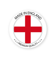 modern made in england label vector image