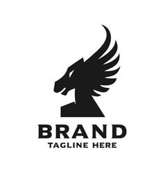 number one horse logo design vector image
