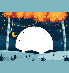 of colorful landscape vector image