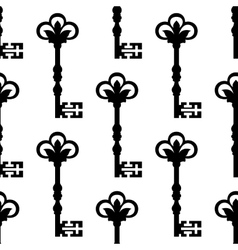 Old antique key seamless background pattern vector image