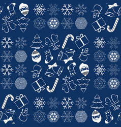 pattern with christmas elements and vector image