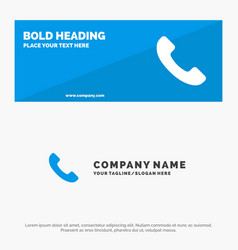 Phone telephone call solid icon website banner vector